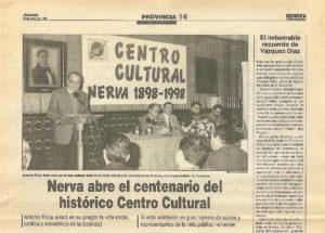 Efeméride Centenario Centro Cultural