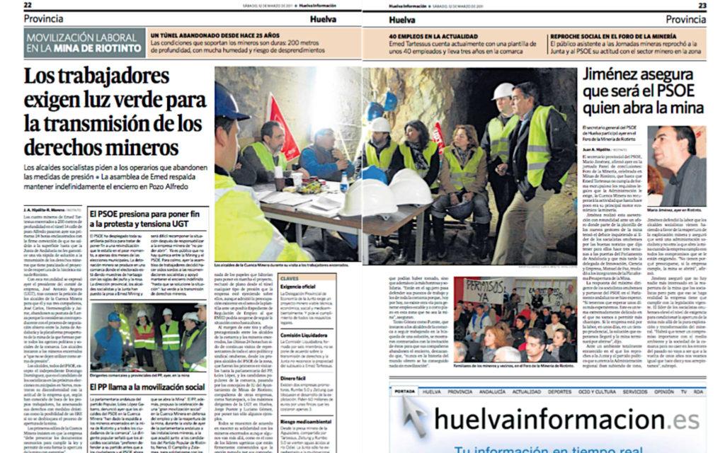 Reportaje sobre el encierro para Huelva Información.