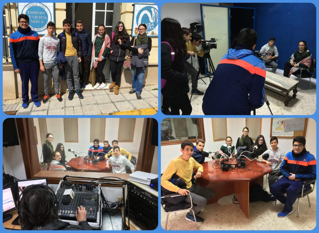 Alumnos del IES Vázquez Díaz visitan Onda Minera RTV Nerva