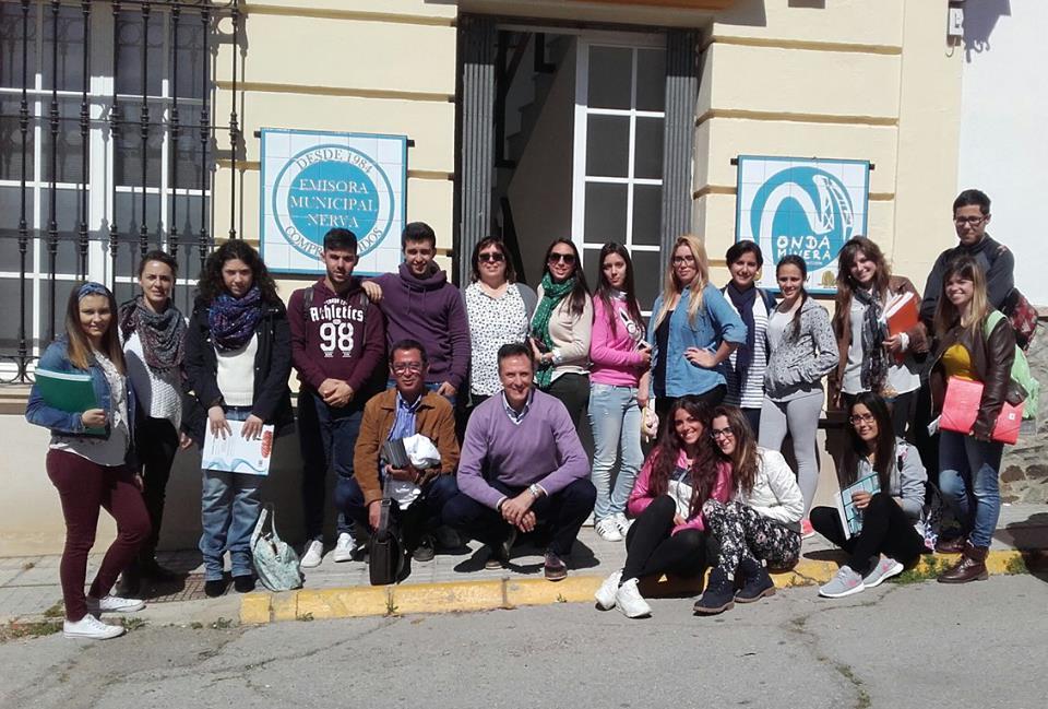 Visita a Onda Minera de alumnos del IES Vázquez Díaz de Nerva. Marzo 2016