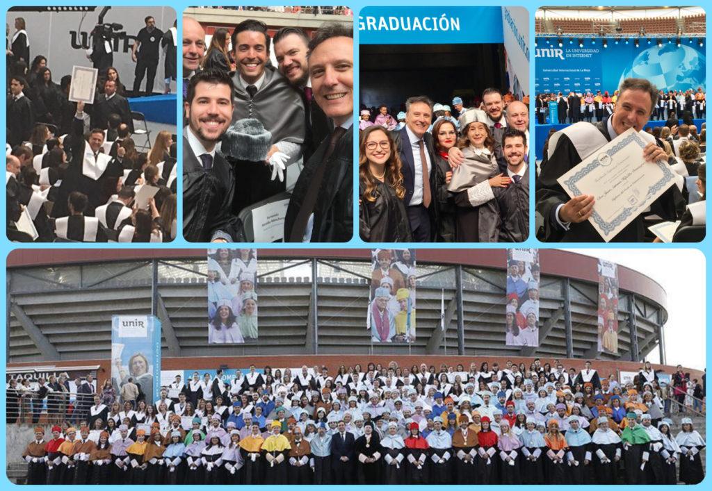 Juan A. Hipólito. Graduación UNIR 2018. Logroño