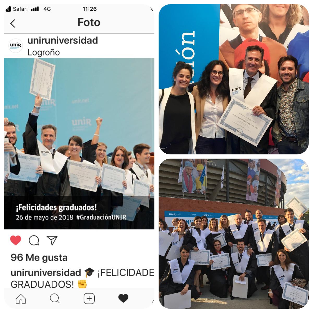 Juan Antonio Hipólito Domínguez en la Graduación de UNIR 2018