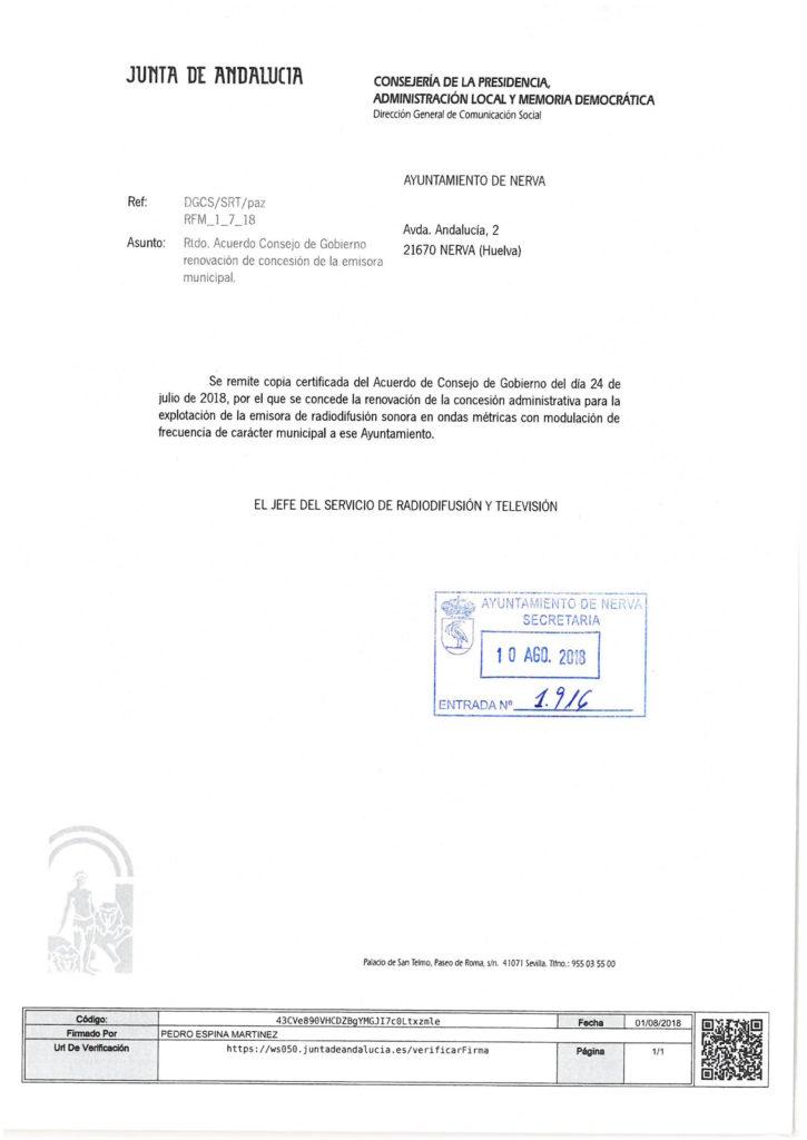 Radio Nerva renueva su licencia de emisión hasta 2028