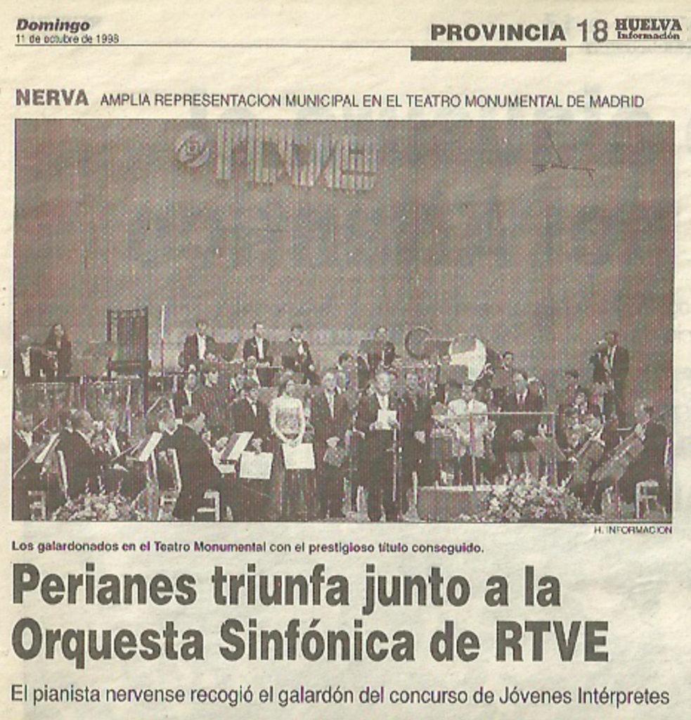 Perianes junto a la OSRTVE en 1988