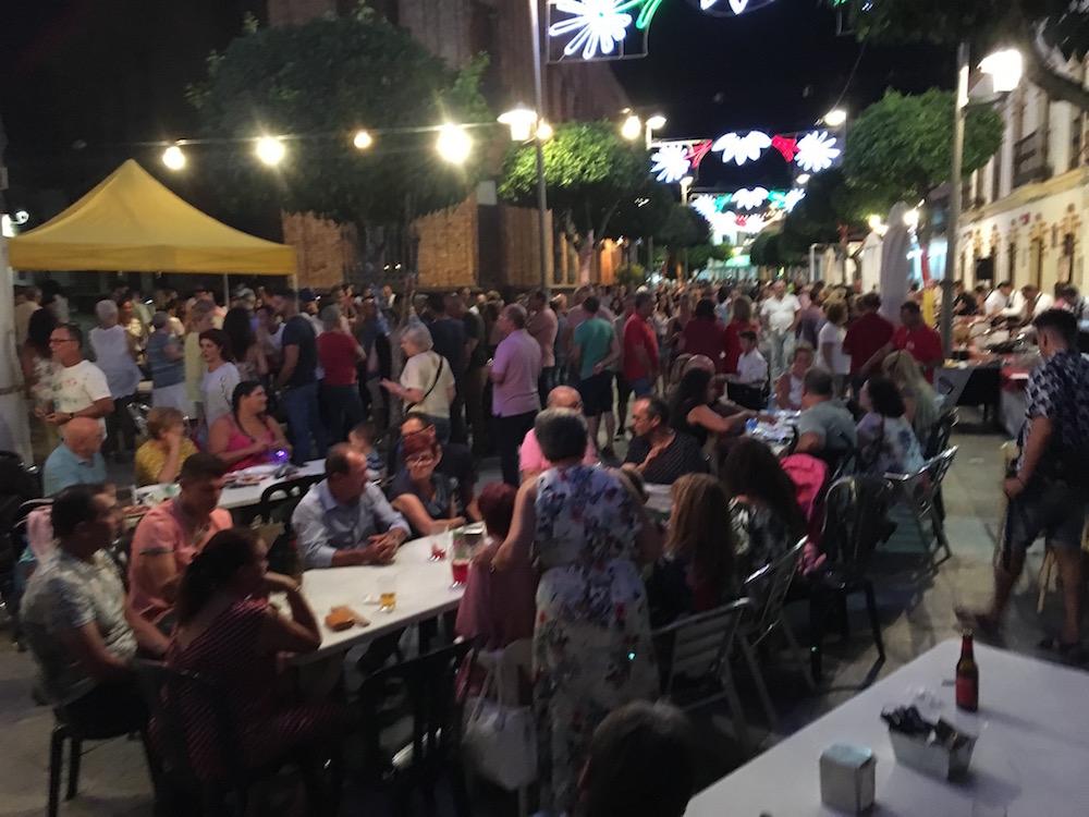 El paseo de Nerva en plena Noche Blanca de la Cultura