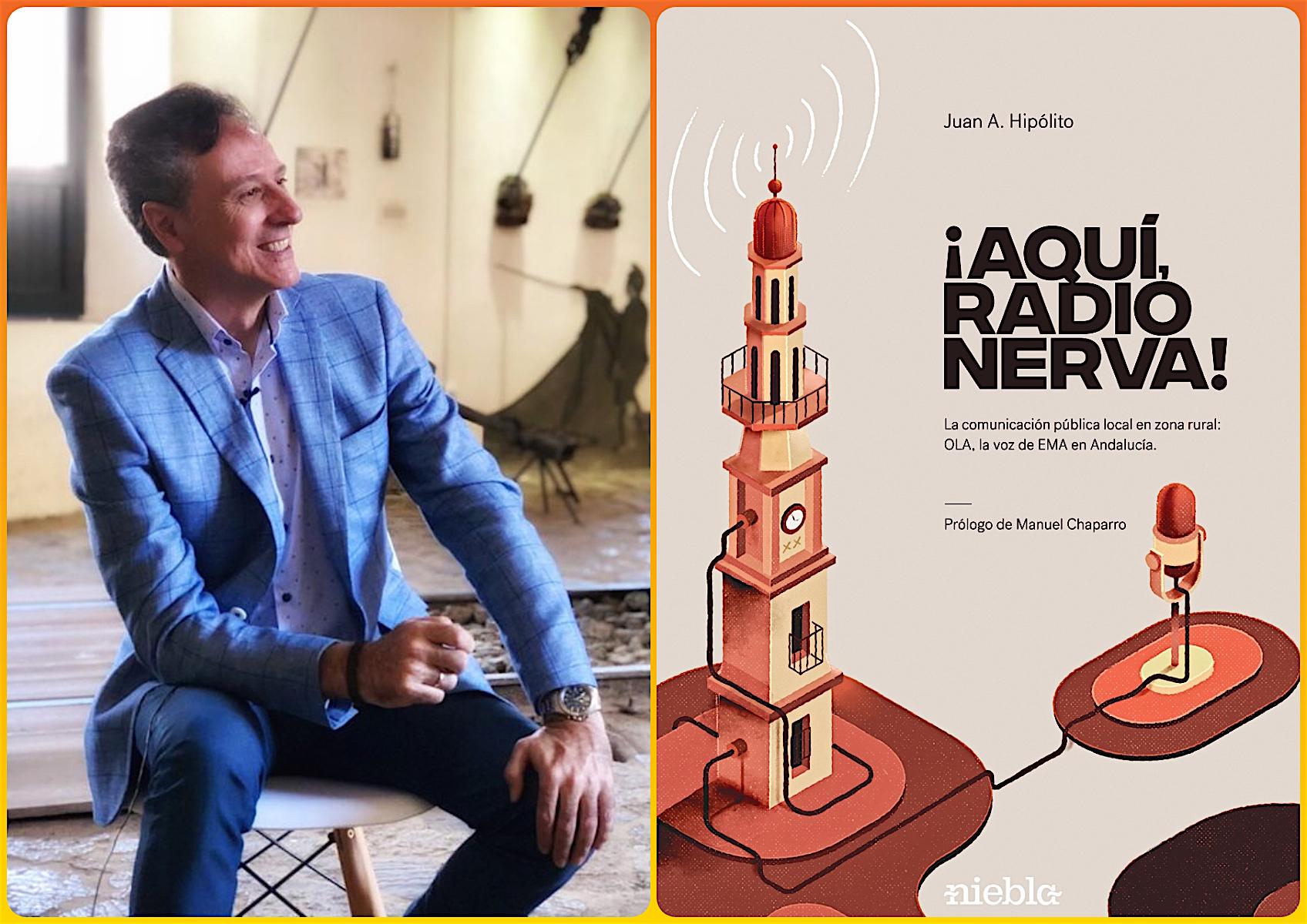 Juan A. Hipólito y la portada de su primer libro