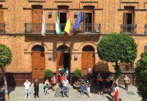 Banderas a media asta y luto oficial en Nerva por los fallecidos de COVID-19